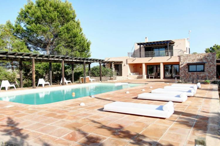 Villa a Formentera con vista mare, piscina e connessione internet
