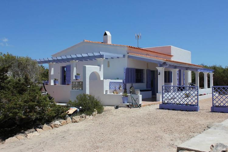 Villa a Formentera fronte mare sulla spiaggia Migjorn